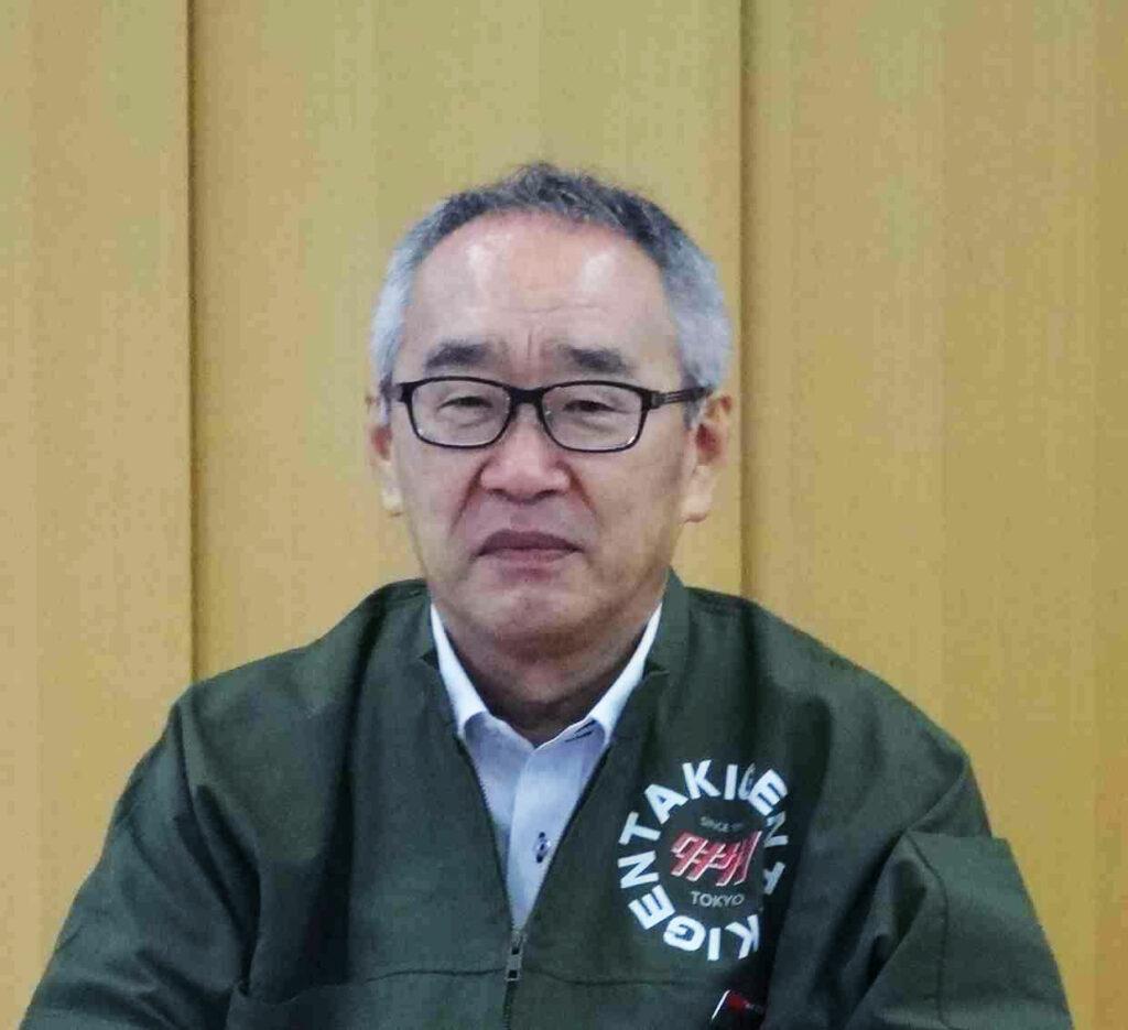 Mitsugu Tanaka, President of TAKIGEN MFG CO., LTD.